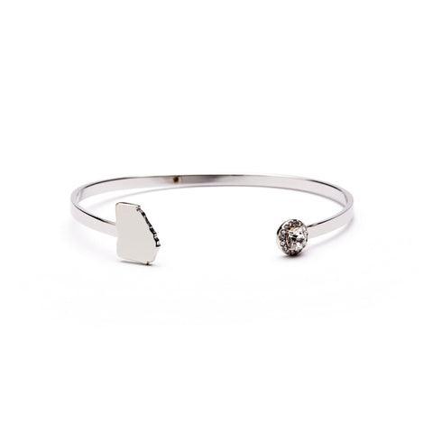 State of Georgia Stainless Steel Bangle Bracelet (MOQ 2)