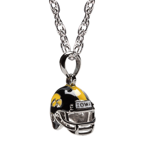 Iowa Hawkeyes Football Helmet Charm Pendant Necklace (MOQ 2)