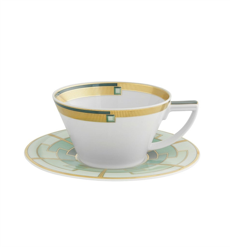 Emerald Cup and Saucer By Vista Alegre