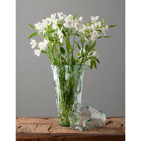 rustic tall  vase - clear