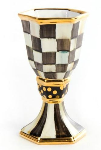 Courtly Check Kiddush Cup by Mackenzie Childs