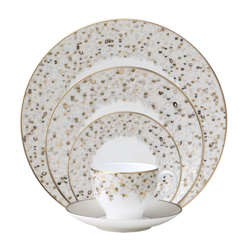 Spangles White 5-Piece Place Setting