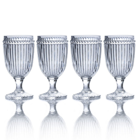 Italian Countryside Set of 4 clear  Iced Beverage Glasses