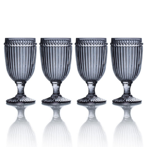 Italian Countryside Set of 4 Smoke Iced Beverage Glasses
