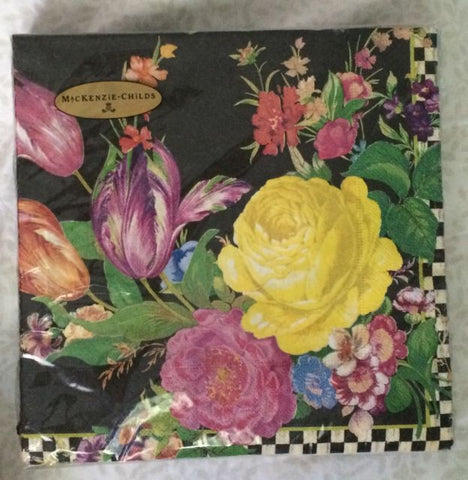 MacKenzie-Childs 'Flower Market Paper Dinner Napkins - Black