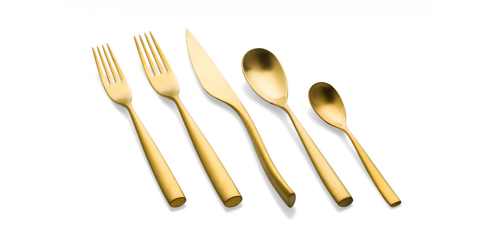 Arte Ice Oro 5-Piece Place Setting - gold or silver