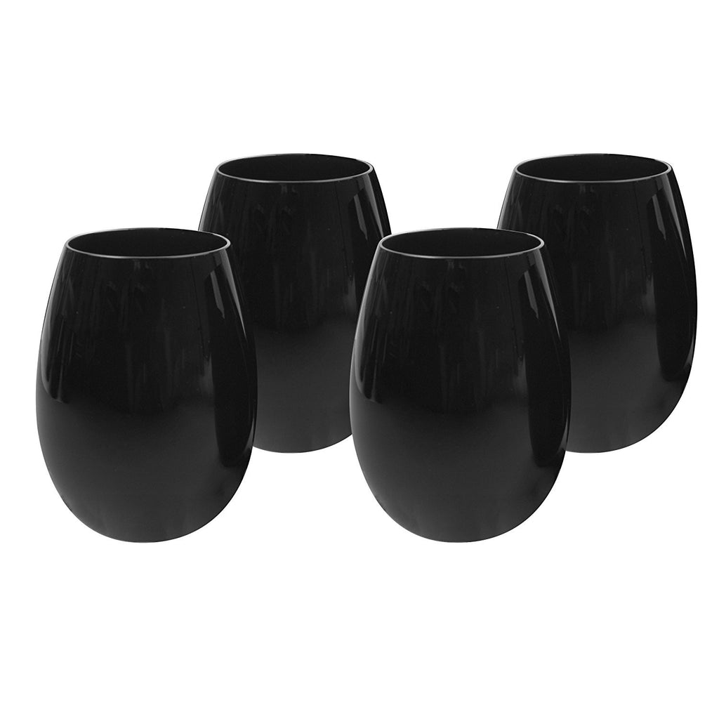 Midnight Stemless Wine Glass sets of four