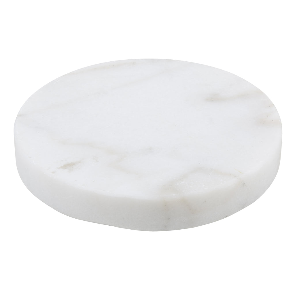 Cole white marble coasters - set of four