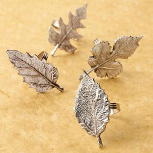 Leaf Napkin Ring, Asst. 4