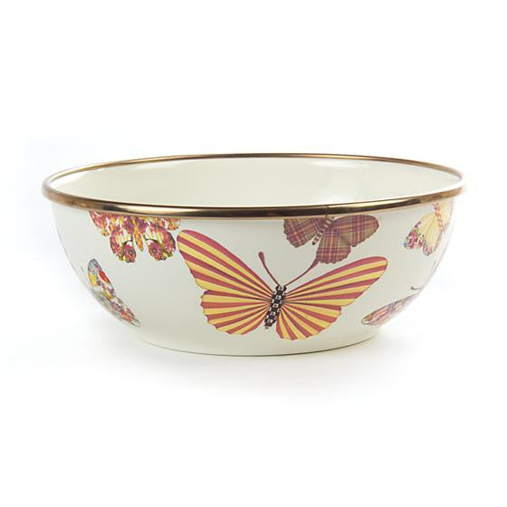 Butterfly Garden Everyday Bowl - White by MacKenzie-Childs