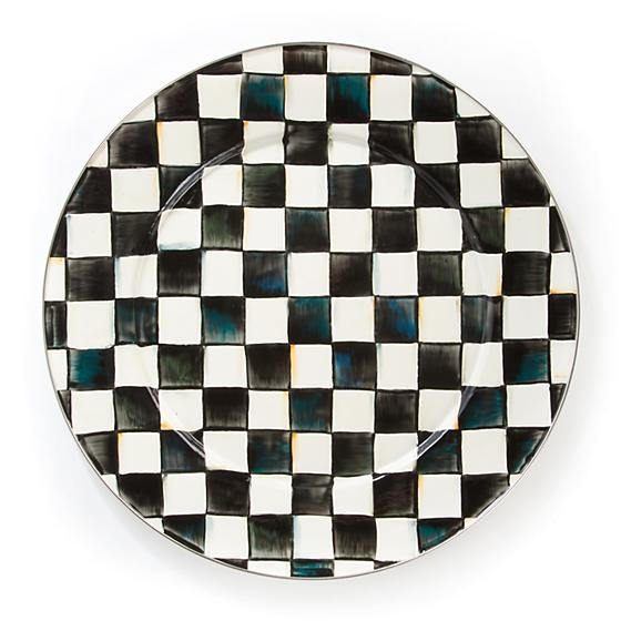 Courtly Check Enamel Serving Platter by Mackenzie Childs