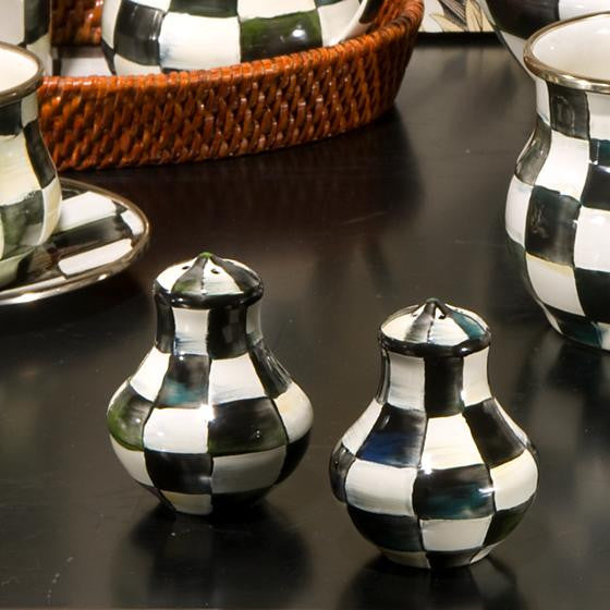 Courtly Check Enamel Salt & Pepper Shakers by MacKenzie-Childs