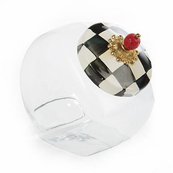 Cookie Jar with Courtly Check Enamel Lid by MacKenzie-Childs