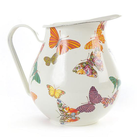 Butterfly Garden Pitcher - White by MacKenzie-Childs