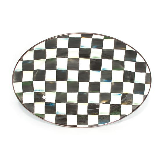 Courtly Check Enamel Oval Platter - medium  by MacKenzie-Childs