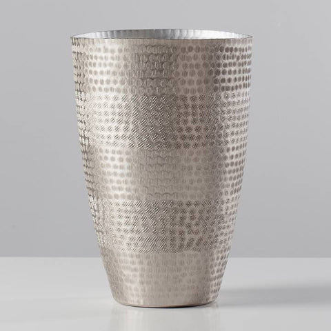 Mantra Hammered Vase Tall - Gold or Silver