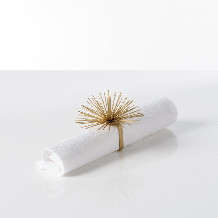 Spike Pod Napkin Ring - Gold or Silver sets of 8