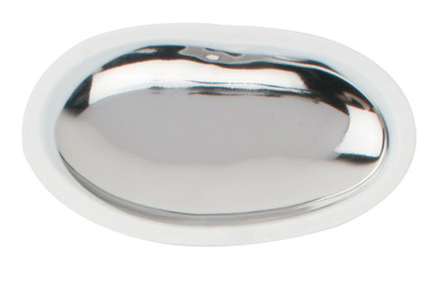 Large Platinum Pebble Dish - White Body