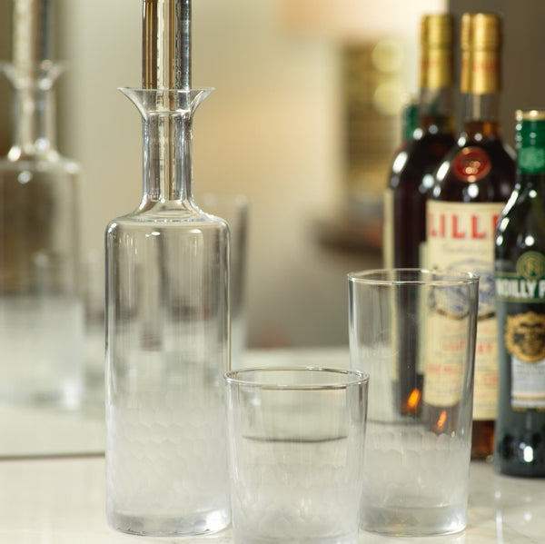 Fez cut frosted glass Decanter