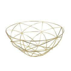 Modern gold fruit bowl