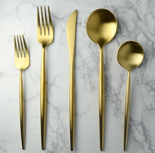 Harper Flatware - Brushed Gold - 5 PC Set