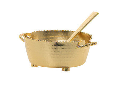 Beaded Dip Bowl- Small Gold