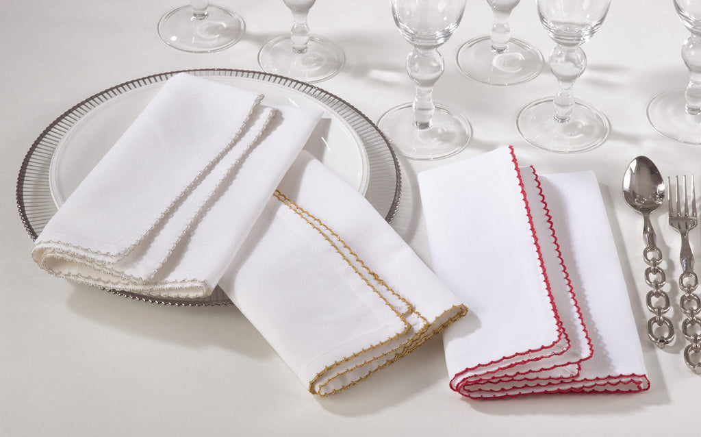 Recotting napkins sets of four - 2 color options