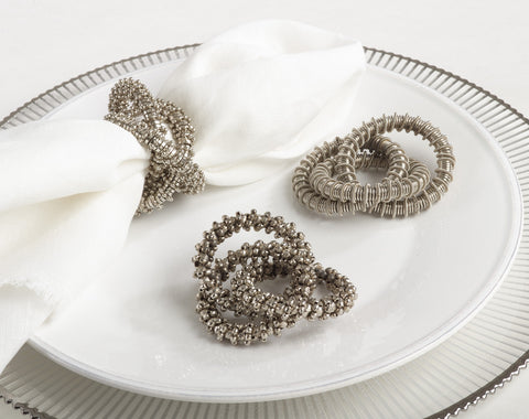 Three-ring design napkin ring - comes in set of four
