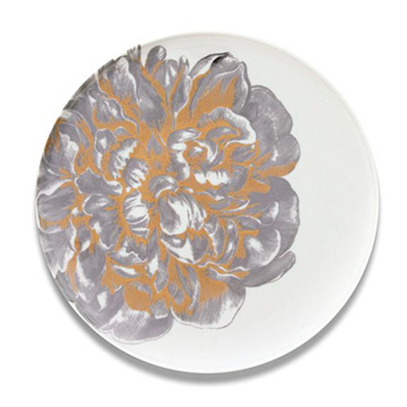 Peony Gold & Platinum Coupe Platter