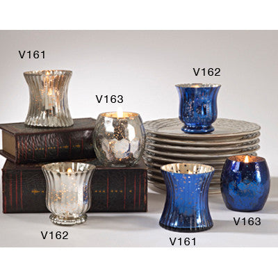 mercury glass votive holders 3.5'x3.25""