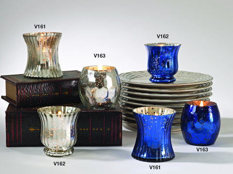 votive candle holders -v163 cobalt blue