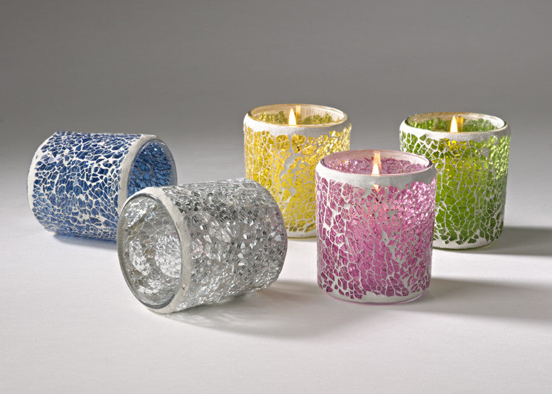 mosaic votive/candle holders