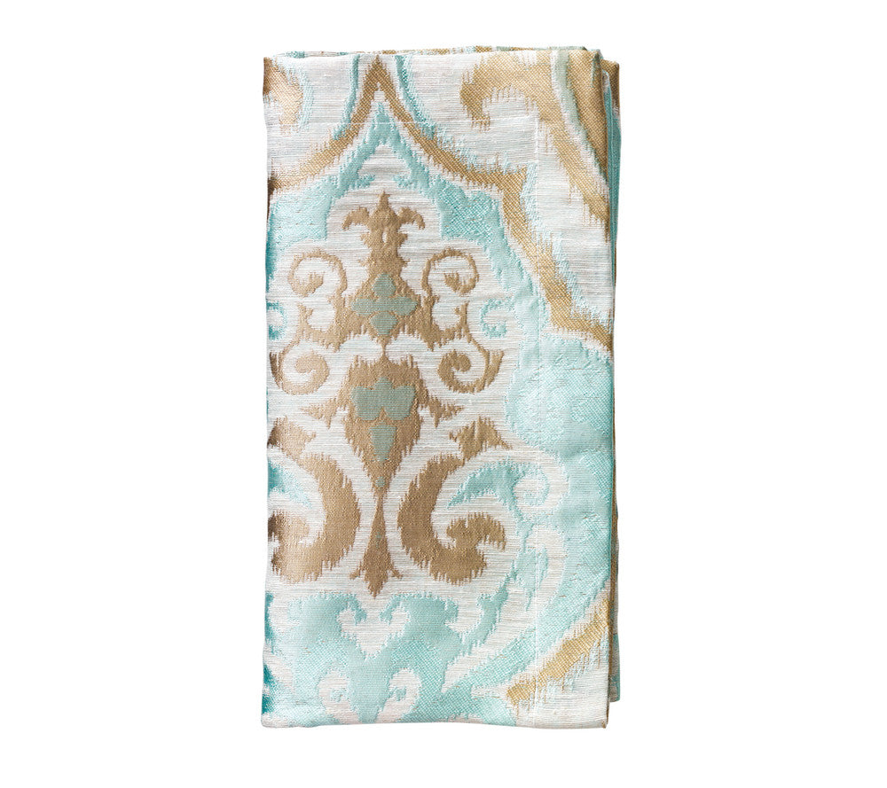 GALA NAPKIN IN SEAFOAM & TAUPE set of four