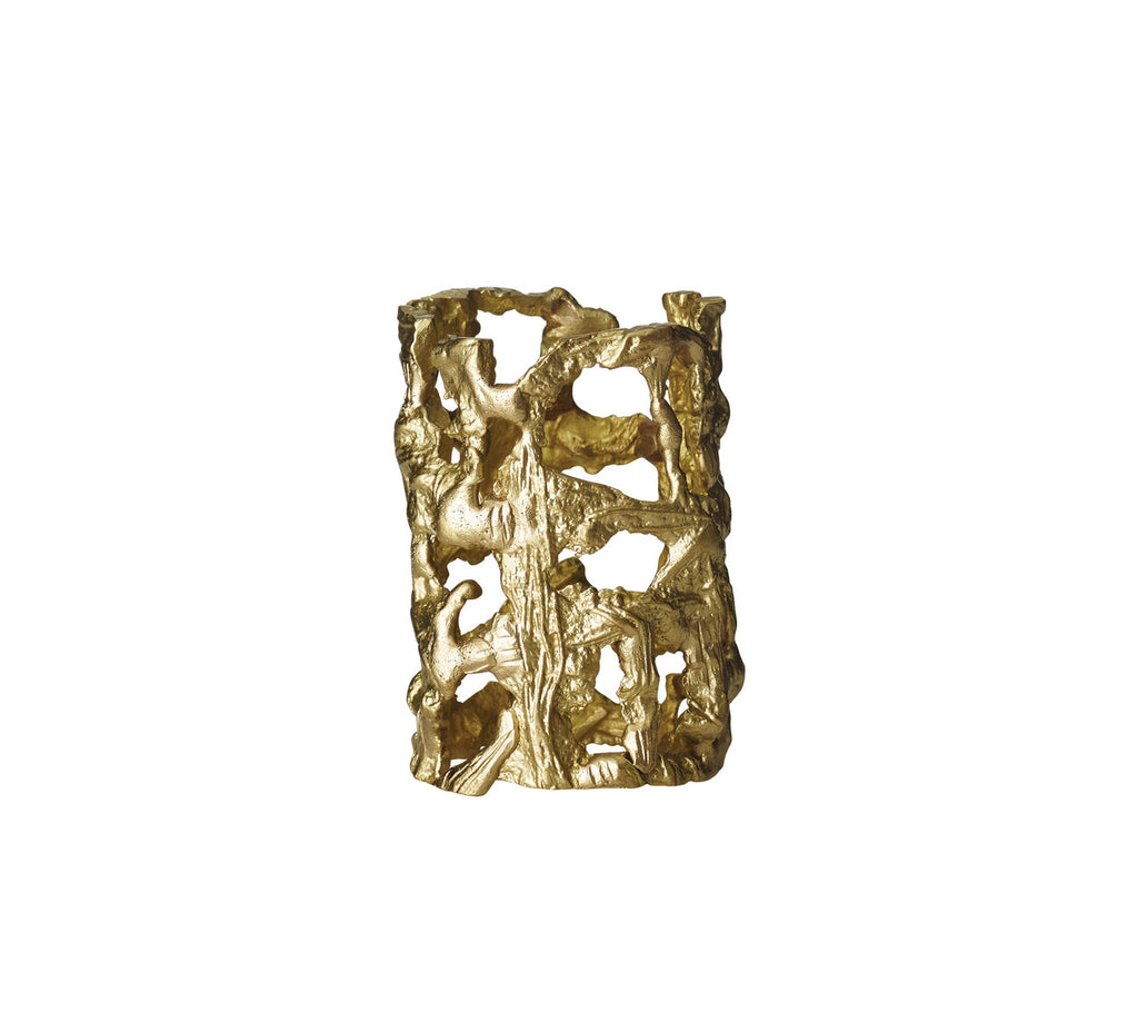 MOLTEN NAPKIN RING IN GOLD