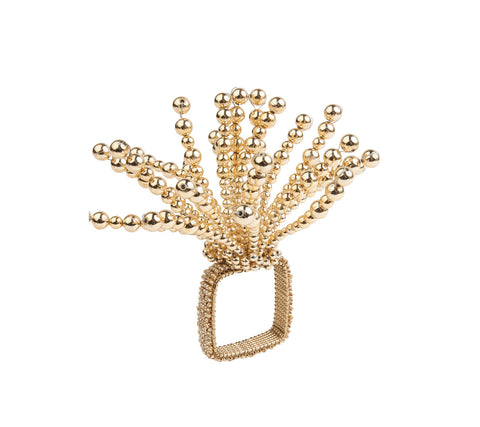 FIREWORKS NAPKIN RING IN GOLD