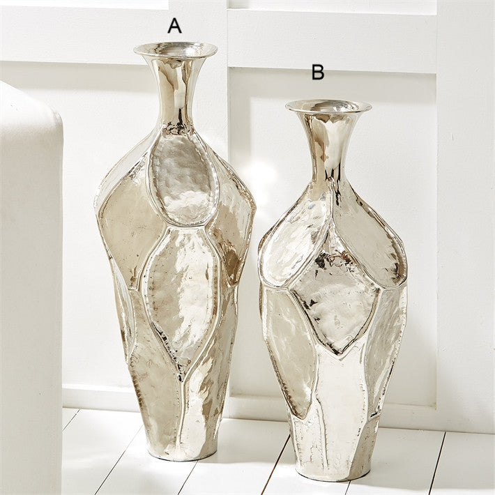 Argent Ripple  Hand-Crafted Vases - Aluminum