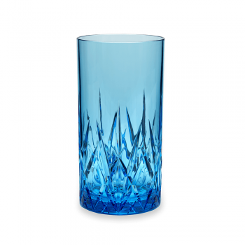 Aurora Topaz Blue or Twilight S/4 Highball Tumblers