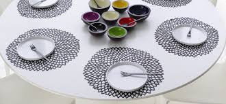 Dahlia placemats - variety of colors