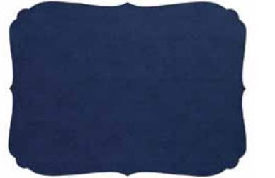 Bodrum EasyCare Placemats, Curly Navy - set of 6