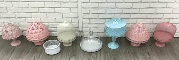 Cake and cookie domes and containers - variety of colors and styles
