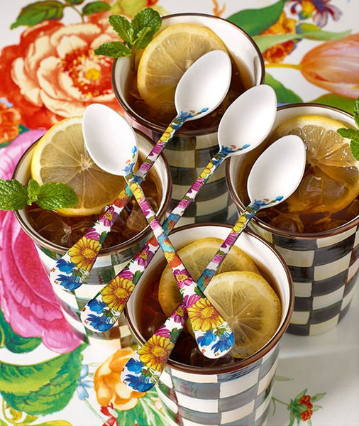 MacKenzie-ChildsFlower Market Iced Tea Spoons, Set of 4