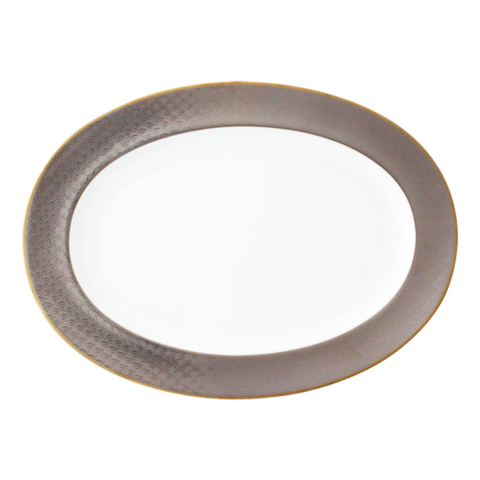 Fortune Oval Platter in gold or silver