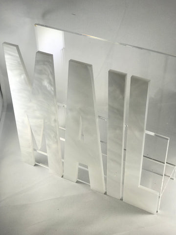 Acrylic Marble Mail Holder