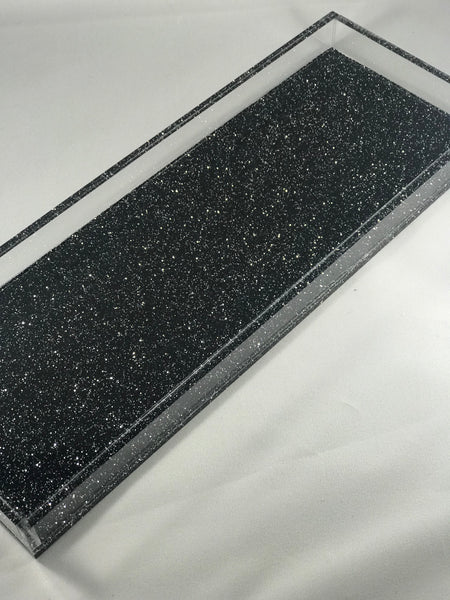 Glitter/Marble Acrylic Tray (3 section)