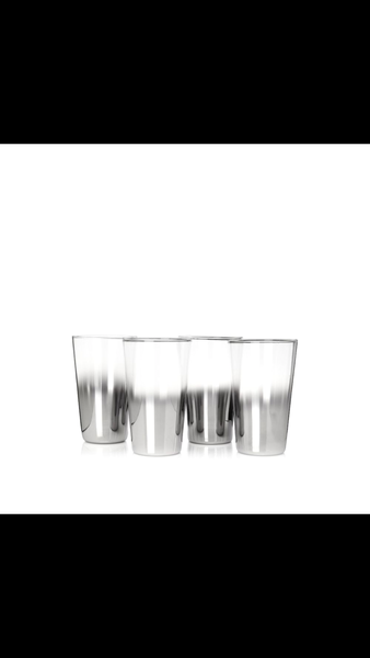 Shadow Highball, Mirror Silver, set of 12