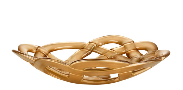 Basket Bowl (gold, large)