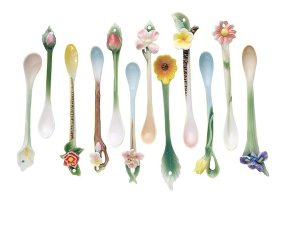 Garden Party Demitasse Spoon in Gift Box Assorted 12 Designs