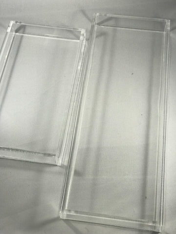 Acrylic Clear trays (2&3 section)