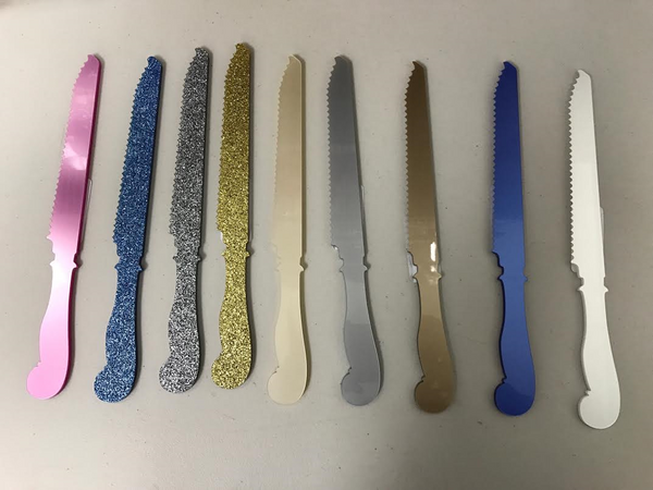 Bread/ challa/ cake  knife acrylic - variety of colors