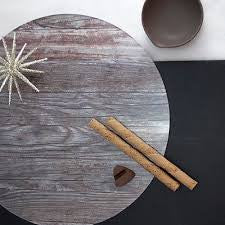 nature/ lignum presentation plate/place mat - reversible